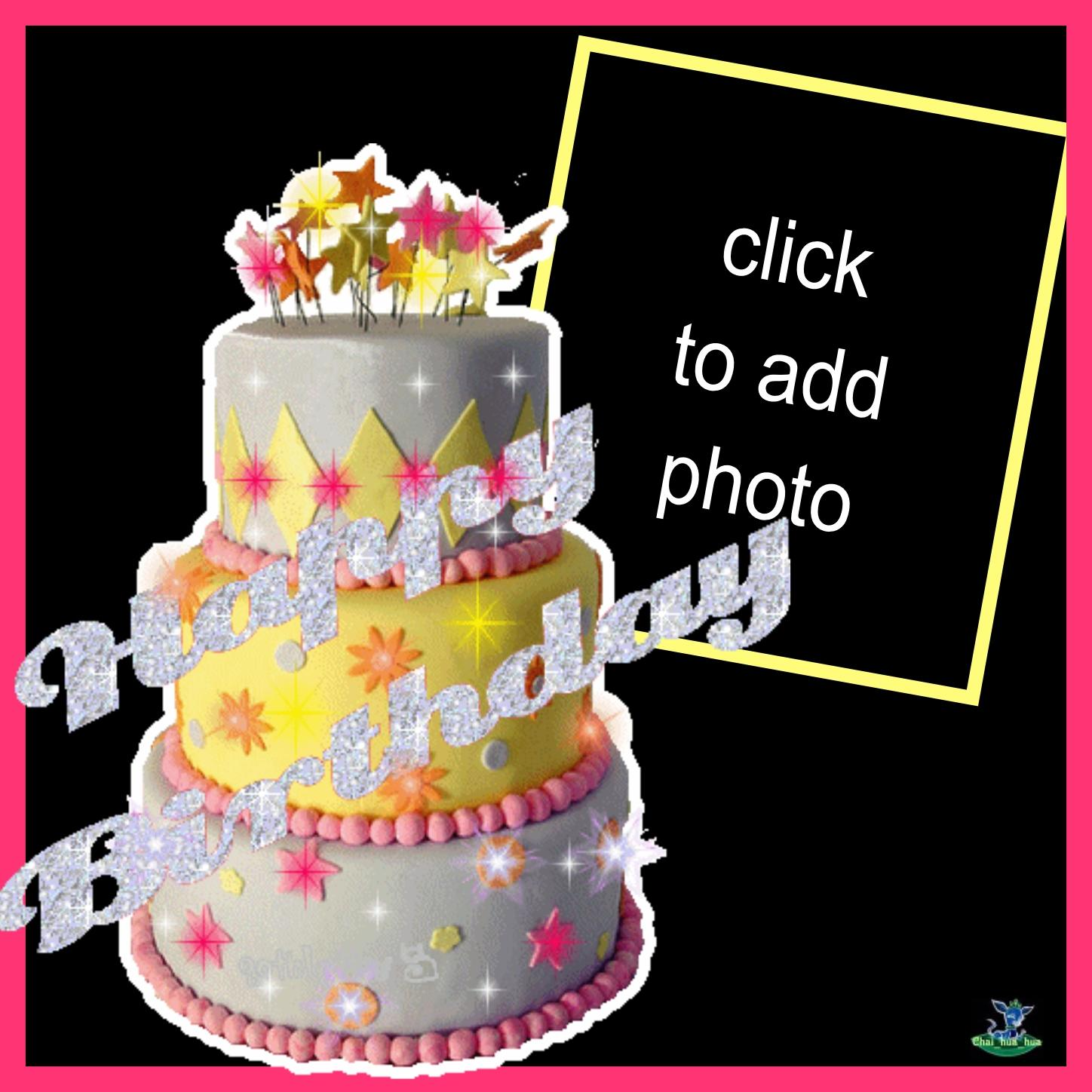 Imikimi Zo Birthday Frames Animated Layered Birthday Cake