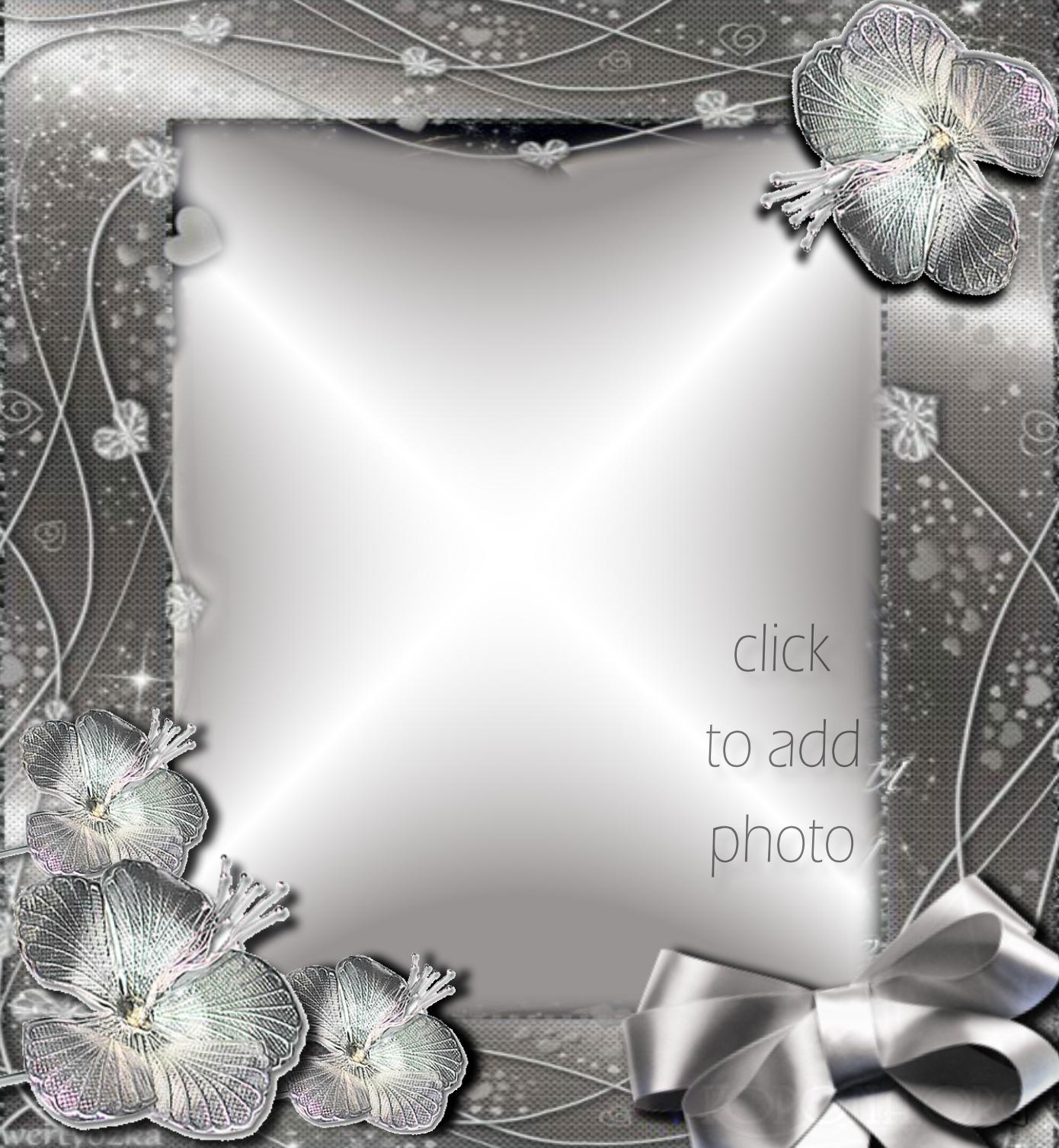 Imikimi Zo - Picture Frames - Silver frame with flowers Move Picture ...