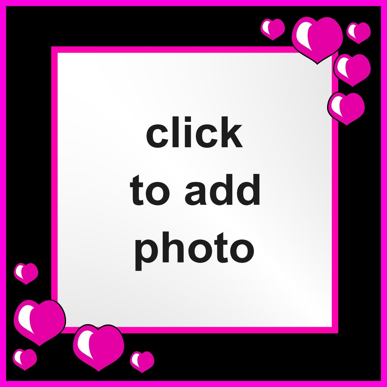 Imikimi Zo - I Love You Frames - Plain and Simple Frame Black pink ...
