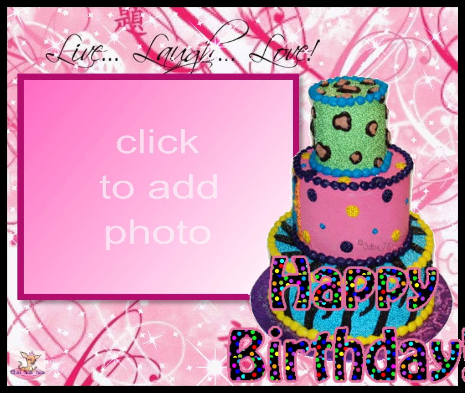 Happy Birthday Cake Photo Frame Brithday