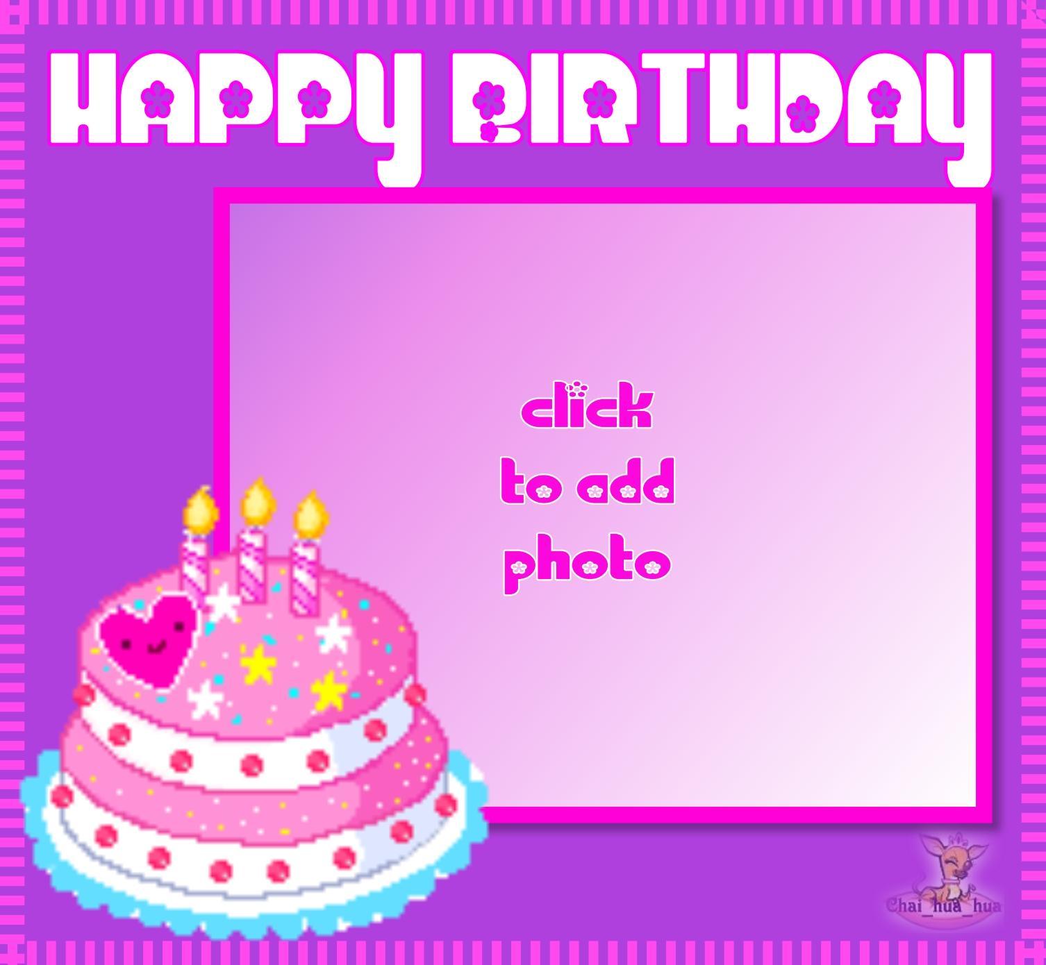 Imikimi Zo Birthday Frames Happy Birthday Cake Photo Frame Happy