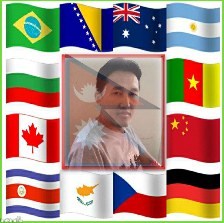 Imikimi Zo - Picture Frames - Flag frame(Nepal)- Ngima Lama - ngima108